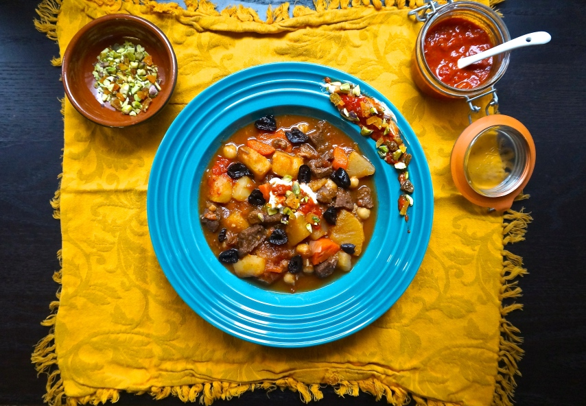 Moroccan Lamb and Root Vegetable Stew